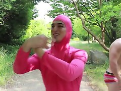 Hot Guy in Pink Gets Breakfast From His Dad