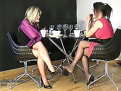 Watching two nice ladies in high heels is one of the great pleasures of having a shoe fetish....