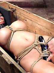 Shay Fox is terrified of small spaces but wants to face down her fears on Training of O. So we put her in tight bondage, bolt her head into a box, then put her into another box and screw the lid on. Her pussy is vibrated the whole time and she is told that the only thing to fear is what she brings into the dark with her.Our brave MILF survives the box, but before we are done she must show us what she learned and get fucked by the gimp while her head is bolted into a confining head box. It\'s pure objectification and fear play on Training of O, the ONLY slave training web site of it\'s kind!