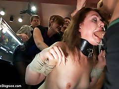 Sarah Shevon spends a day Public Disgrace style, bound, humiliated, and fucked in public by...