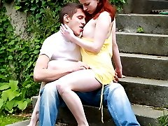 This redhead teen looks like she should be cute and innocent, but she already has sexual...