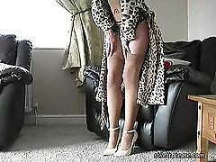 In her 5 inch ankle strap high heels Jodie asks you about your fetish and your sexual attraction for ladies shoes! You know when it all started, and you can still remember those early feelings you used to get about high heels! Maybe it was your schoolteacher's high heels that first finished you off