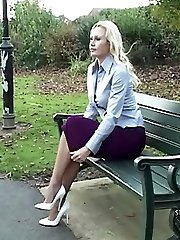 Slow and sexual with Monica who always wears high high-heeled shoes and so when you witness her walk in them it is so highly sumptuous, so all-natural that your feelings increase in size inside until your dolls shoe fetish is expressed at the clack of her heel
