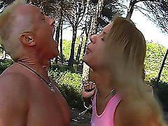 Two rude bikini mistresses beat up slave