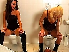 Toilet slave training with Roxy in boots