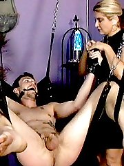 Mistress Nicolette bounds her malesub and punishes him with hot wax dripping in his chest and cock