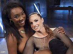 Bella Rossi has found another outlet for lesbian domination and electro sadism! Anal slut, Lisa Tiffian, takes the zapper, the violet wand, finger banging, a huge electrified dildo on a stick, face sitting, electrified butt plug, and tons of orgasms!