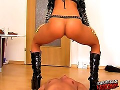 Femdom with Barbara Devil and hot Viola