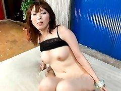 Sayaka Tsuzi Asian is double aroused with vibrators on wet holes