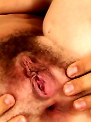 Hairy babe Alex gets taxed
