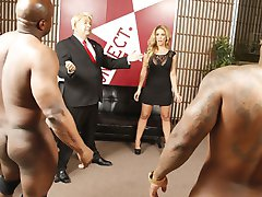 Interracial Cock Lover Megyn Gets Trumped GangFucked By Black Cocks at Blacks On Blondes!