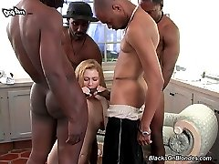 Interracial Cock Lover, Erica GangFucked By Black Cocks at Blacks On Blondes!