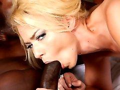 Interracial Cock Lover, Melanie Jayne GangFucked By Black Cocks at Blacks On Blondes!
