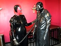 Latex couple for sex