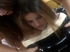 Lesbos in latex play sloppy