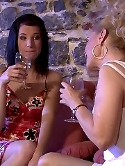 Son walks in on his mother and his girlfriend drunk and having lez sex