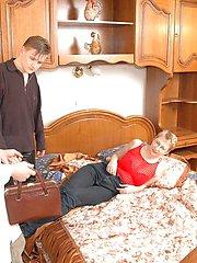 Experienced deflorators find an elderly virgin