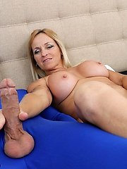 Dani Dare and the mystery fellow at Over40handjobs