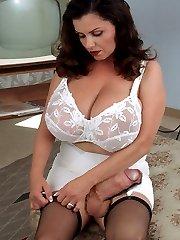 Hot shemale schoolgirl masturbates in her bedroom.