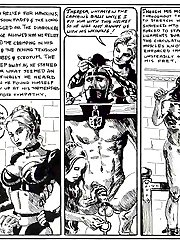 Medieval femdom in the comics 'Spanish Leather'