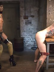 The stunning Ana Foxxx is at a high fashion photo shoot with the nervous and sweaty Will Havoc. What could be distracting him soo much! Ana decides to turn this fashion slut into her very own play thing. Hard spanking on all his sensitive parts, cock and ball biting, and face sitting get her soo turned on and ready for more FemDomme Torment. She teases the ever begging Will with her beautiful ass and tight pussy smothering his face. The action gets hotter when Ana restricts Will with leather bondage and ties his pulsing cock up with rope before delivering a brutal flogging. While Will is still tied up, Ana delivers a deep fucking with her huge strap on. Finally Ana Foxxx makes will go down for some pussy licking before tormenting him one last time with edge fucking. After he shoots his trembling load, Ana spits it all back in his face and makes him eat it all up. Such a good boy.