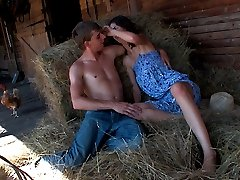 The farm is the perfect location for these teen lovers today. They can`t get enough of each other and can`t control their sexual urges, often having sex out in the open like this!