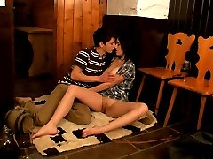 This lucky stud just walked through the door and this horny teen was all over him. She was practically ripping off his clothes to get access to his hard cock. She had to have it, she couldn\'t control herself.