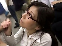 Japanese AV Model busty and with specs PublicSexJapan.com