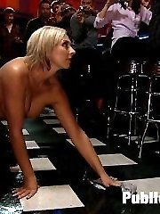 Skylar Price goes on a trip to the bar with Princess Donna, Mr. Pete, and James Deen, and gets completely worked over. She is made to clean the floor with her clothes and her naked body. She's used as an ashtray, humiliated, bound, fucked, double penetrated, strap-on fuck by a cute random girl, smacked, spit on, made to squirt for the first time ever, and then left handcuffed in the bathroom.