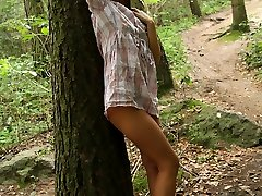 Gloria decided to take a walk out in the woods to clear her head but as soon as she felt that warm sun against her skin she started to think about doing a lot more than clearing her head! She started thinking about teasing her pussy!