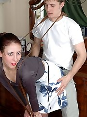 Tempting honey in sheer-to-mid-body hosepipe playing with hosiery and getting down