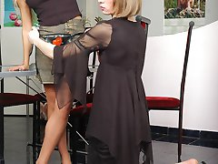 Sultry sissy guy craving for strap-on frenzy while trying to seduce a cutie