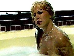 Bathing retro dame fucked
