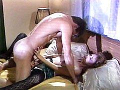 Retro guy makes girl orgasm