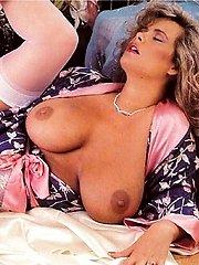 Retro mom milking her tits