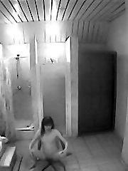 Sauna fucking filmed by hidden cam