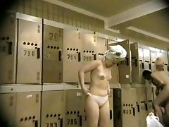 Busty goddesses accidentally undress in locker guest rooms
