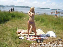 Charming blonde babes posing stripped. They are sure to make you get hard
