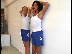 PE Lesson - 2 girls punished hard
