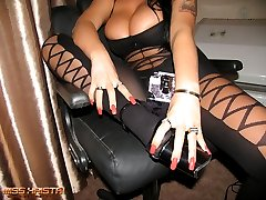 Severe Mistress is waiting for her new sissy slave to train him
