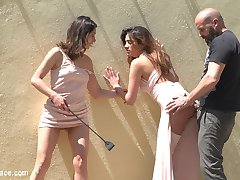 Newbie Penelope Gets Suspended, Flogged and Fucked - Part 1Penelope Cum is a sweet, adorable beauty, new to the scene but ready to take it all in. Max Cortes brings Valentina Bianco to a location popular with climbers, to find Penelope bound and suspended, eager for them to use. They take her to a street with a grand view of Barcelona, where Penelope's made to suck dick and get fucked in plain view.Penelope and Valentina in a Greedy Group Fuck - Part 2Fresh from a hard fuck on the streets of Barcelona, Penelope Cum and Valentina Bianco are brought to a club to continue their public abasement. They're fucked and humiliated in front of a large group of patrons, as two other hot sluts join in on the fun. Valentina takes a hard fuck in the ass as three cocks and four girls pound it out. In the end, our newbie Penelope is fully fucked and covered in hot cum. There's no wiping the huge smile off her face now!