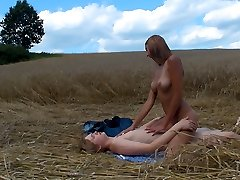 This farm field is the location for these horny teenagers. As shortly as they realized they were all alone in this field, their clothes began coming off and they had raw, passionate fuckfest.
