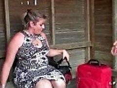 BBW Mere de famille francaise prise en double penetration pour stepson casting porno
