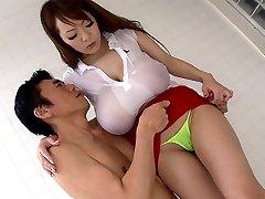 Galen Japansk tjej Hitomi Tanaka i Bästa JAV censurerade Badrum, Stora Bröst film