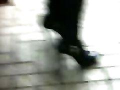 Höga Klackar Stilleto Boots Asiatiska Candid