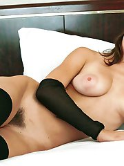 Girl next door naked with awesome puffy tits