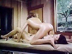 Oily retro girl-female massage