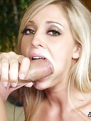 Stacked Blond Fucked Doggy And Facialed