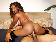 This sweet black thang is hot as they cum! You'll love watching