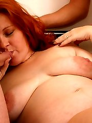 Double meaty pleasure for a delicious fat hairpie